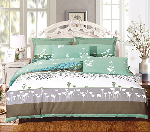 Cheap  Swanson Beddings Buttercups 3-Piece 100% Cotton Bedding Set: Duvet Cover and Two..