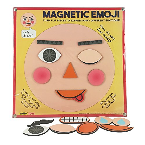 MFM TOYS Magnetic Emoji Teach Emotions to kids Make a Face Toy Game Ages 4-8