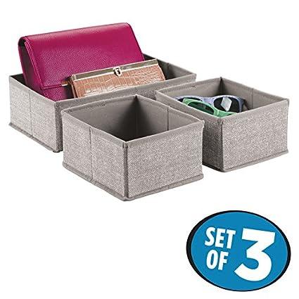 mDesign Caja para armario o cajón - Ideal como caja almacenaje para juguetes o como caja