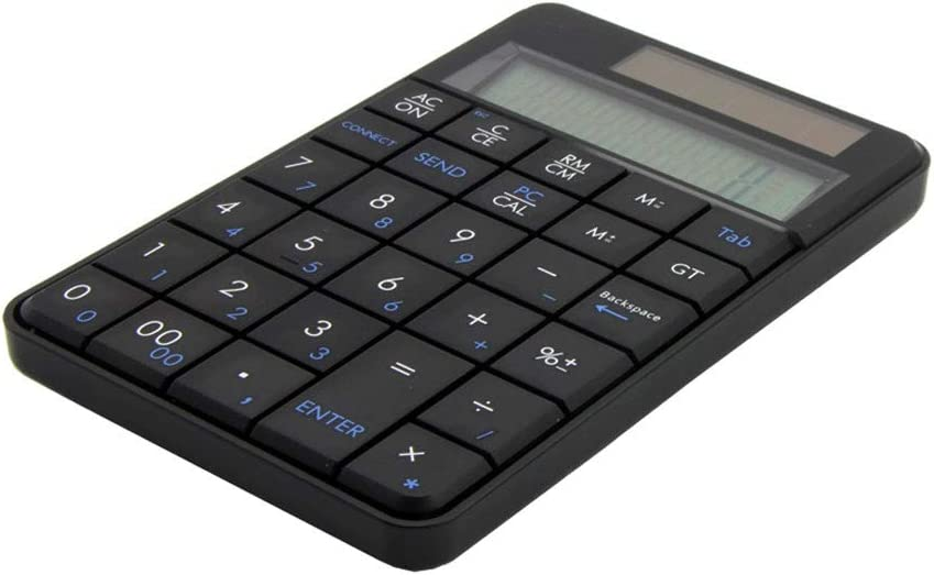 Black Color : Black DUANDETAO MC-56AG 2 in 1 2.4G USB Numeric Wireless Keyboard /& Calculator with LCD Display