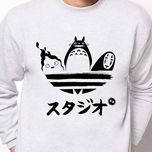 Pampling Sudadera Studio Brand - Mi Vecino Totoro - Anime - Color Gris Ceniza - Serigrafía: Amazon.es: Ropa y accesorios