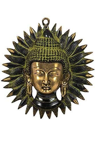 Lord Buddha Face Wall Hanging by Handikart