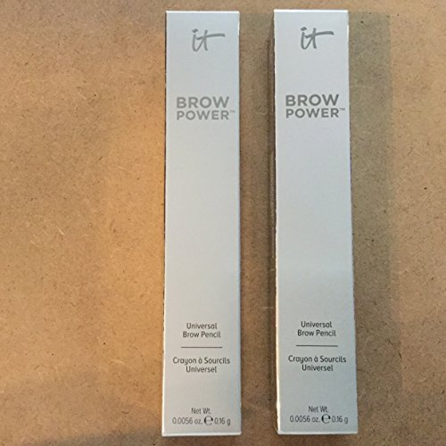 LOT OF 2 IT Cosmetics Brow Power Pencil Universal Taupe Updated Still For Most Colors Like The Previous Version