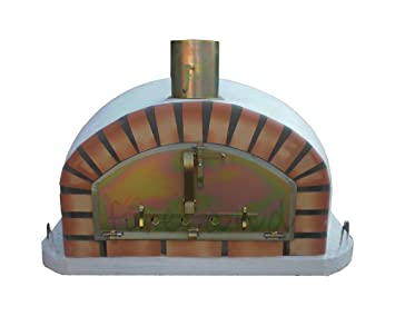 outdoor brick pizza oven 90 x 90cm wood fired bread meat margherita garden barbecue
