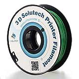 3D Solutech Real Green 3D Printer PLA Filament 1.75MM Filament, Dimensional Accuracy +/- 0.03 mm, 2.2 LBS (1.0KG)