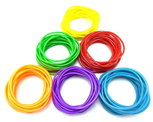 High Quality Assorted 120 Piece Bright Colored Jelly Bracelets for $<!--$9.99-->