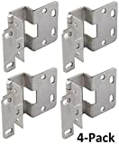 Five-Knuckle Hinge - Grade 1, for 3/4'' Door Thickness, Institutional Hinge Brushed Stainless Steel Finish-2PK-4PK-8PK (4)