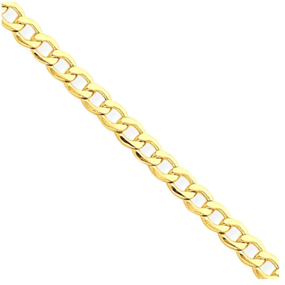 ICE CARATS 14k Yellow Gold 2.5mm Curb Cuban Link Chain Anklet Ankle Beach Bracelet 10 Inch : Fine Jewelry Gift Set For Women Heart