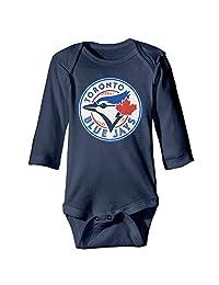 Baby Boys' Toronto Blue Jays Logo Romper Jumpsuit Bodysuit Outfits