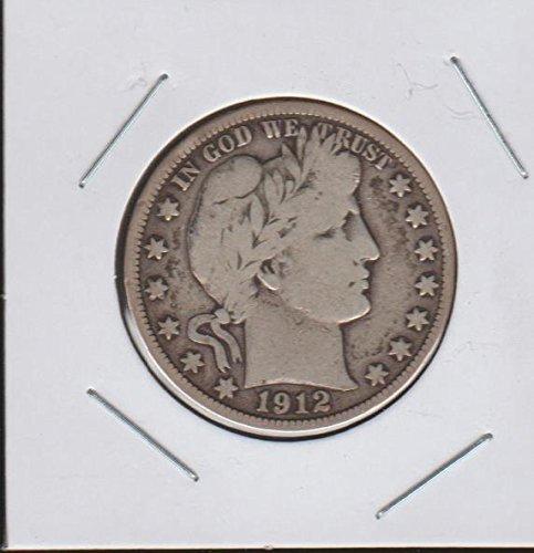 1912 D Barber or Liberty Head (1892-1915) Half Dollar Choice Fine Details (1912 Barber Quarter)