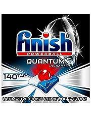Finish Quantum Ultimate Vaatwassertabs – afwastabs met 3-voudige werking – krachtige reiniging, vetoplossende kracht en glans – Gigapack met 140 Finish Tabs