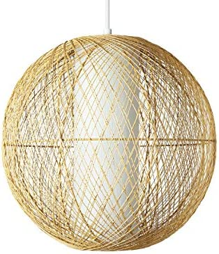 Amazon Brand Stone Beam Traditional Globe Pendant Light