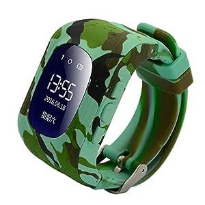 Reloj Inteligente para niños, 9Tong GPS Tracker Teléfono para niños con Anti-pérdida SOS Tarjeta SIM Ranura Pulsera Control de los Padres por iOS y ...