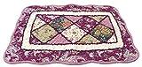 BDJ Cotton Patchwork Quilt Area Rug Rag Mat Carpet 24 x 16 Inches (Purple)