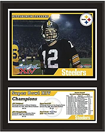 """213e521ba0c Image Unavailable. Image not available for. Color: Pittsburgh Steelers  12"""" x 15"""" Sublimated Plaque - Super Bowl ..."""