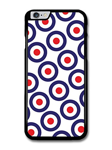 Classic Mod Target Pattern on White Minimalist Design case for iPhone 6 Plus 6S Plus