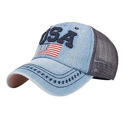 FTXJ Women Man 4th of July Baseball Cap, American Flag Baseball Cap Unisex Snapback Hip Hop Flat Hat