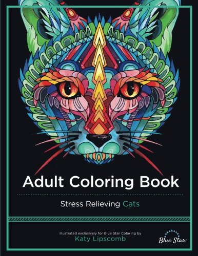 Adult Coloring Book: Stress Relieving Cats