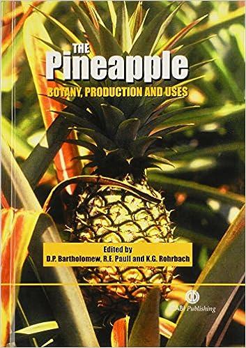 the pineapple bartholomew d p paull r e rohrbach k g