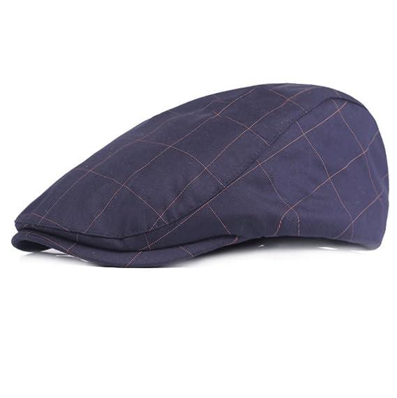 Leisial Retro Boinas Casual Sombreros de Primavera Verano Gorras Deportes Sombrero  para el Sol de Hombre Mujer - 55-59cm 4bc48064134