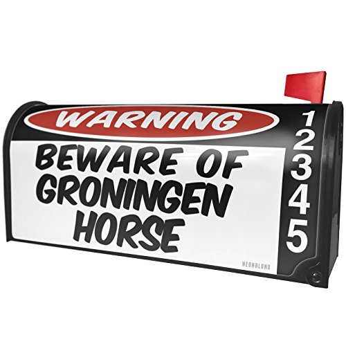 (NEONBLOND Beware The Groningen Horse Magnetic Mailbox Cover Custom)