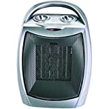 750W/1500W ETL Listed Quiet Ceramic Space Heater with Adjustable Thermostat, Portable Electric Heater Fan with Overheat Protection and Carrying Handle