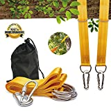 Gternity Tree Swing Hanging Straps (Set of 2), Swing Hanging Kit with Safety Lock Carabiners and Carrying Bag Easy Installation for Outdoor Garden Swings, Hammocks, Holds Up to 2000 LBs (5ft Long)