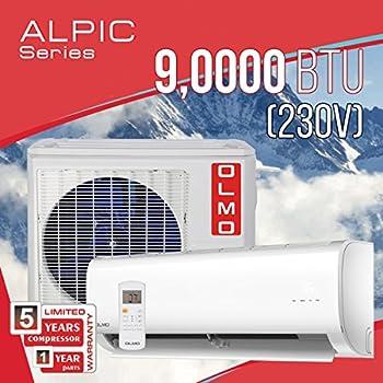 Amazon Com Olmo Alpic 9 000 Btu 230v Ductless Mini Split