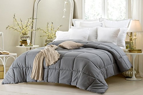 Super Oversized - Down Alternative Comforter - Fits Pillow Top Beds - Queen 92'' x 96'' - Gray - Exclusively by BlowOut Bedding RN #142035 by Web Linens Inc