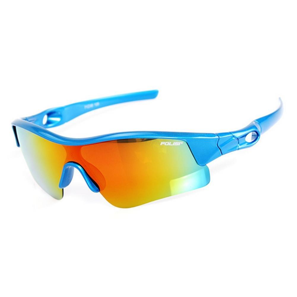 DZW Sonnenbrille jungen und Mädchen Sport Brille Kinder Sonnenbrille draußen Reiten Brille polarisierte Sonnenbrille , schwarz