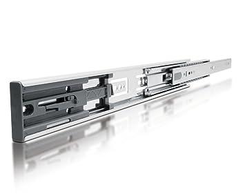 Soft Close Full Extension Drawer Slide Ball bearing Runner Full Extension 1  Pair (1 Pair - 450mm) by !