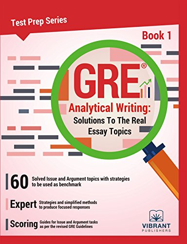 Amazon gre analytical writing solutions to the real essay gre analytical writing solutions to the real essay topics book 1 test prep fandeluxe Choice Image