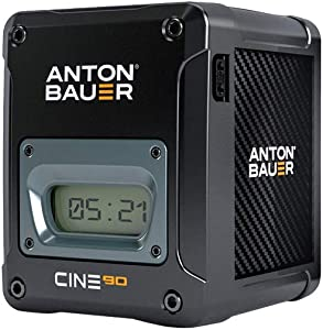 Anton Bauer CINE 90 14.4V 90Wh Gold Mount Lithium Ion Battery for Digital Cinema Cameras and Camera Stabilizer Systems
