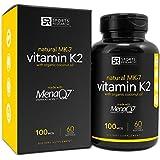 Sports Research Vitamin K2 (MK7) Gluten Free Organic Coconut Oil with MenaQ7, 100mcg, 60 Veggie Liquid Softgels