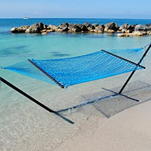 Caribbean Hammocks double rope hammock and 15 ft steel hammock stand