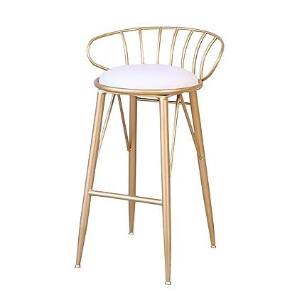 Amazon.com: YONGLIANGgy Taburete de bar alto, silla de salón ...