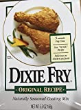 Dixie Fry Original Recipe Naturally Seasoned Coating Mix - Pack of 2 - 5.5 Ounces each