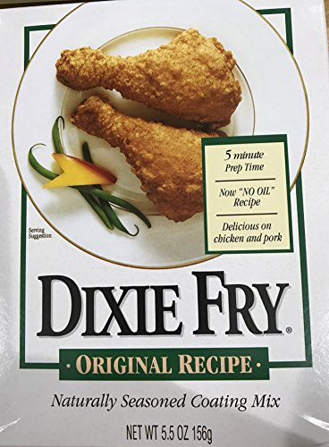 Dixie Fry Original Recipe Naturally Seasoned Coating Mix - Pack of 2 - 5.5 Ounces each by Dixie Fry