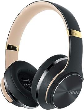 Cascos para videojuegos HSKB, DOQAUS auriculares inalámbricos por radio de oído HiFi estéreo y altavoces auriculares inalámbricos Earbuds Noise Cancelling auriculares para PC/portátil/Schau Video/Online Juegos/con micrófono, gris (Gris) - JJ-123 ...