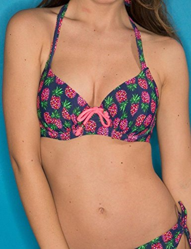 Pour Moi Bademantel Ananas gepolsterte Bikini Top 29001 Navy re83wYmVq3