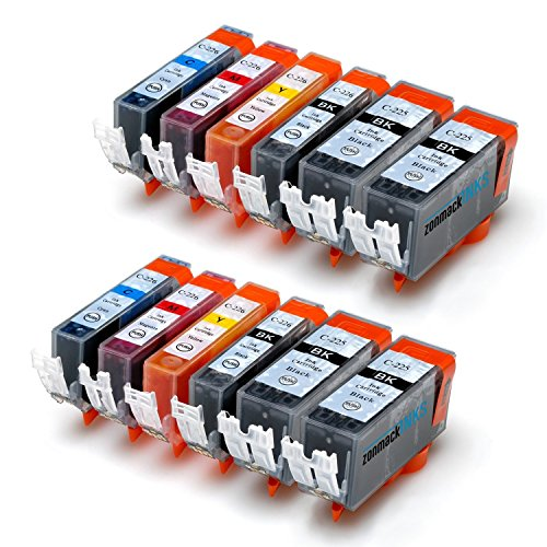 Zonmack Inks (TM) Compatible Ink Cartridge Replacement for Canon PGI-225 & CLI-226 12 Pack for Canon PIXMA Inkjet Printers MG5220 MG5320 MG6120 MG6220 MG8120 MG8220 MX882 MX892 IP4820 IP4920