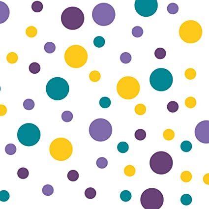 Set Of 60 Circles Polka Dots Vinyl Wall Graphic Decals Stickers