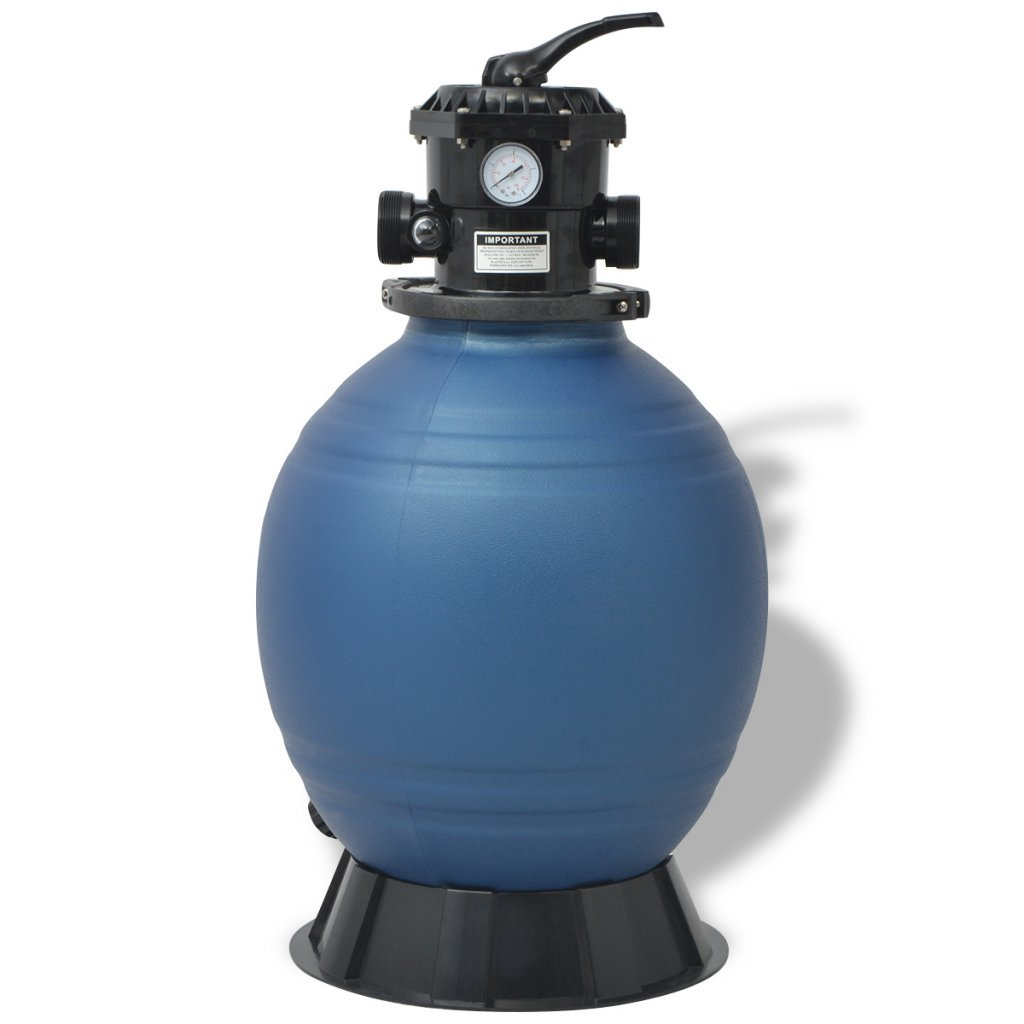 Festnight 2377 GPH Pool Sand Filter with 6 Positions, 18-inch, Blue by Festnight
