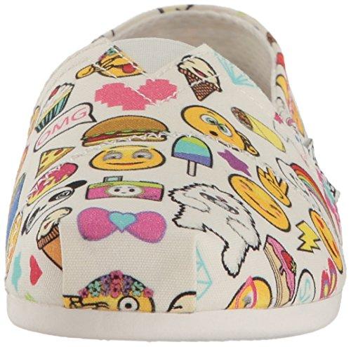 Skechers Bobs de Las Mujeres De Peluche Fashion Sandalias Planas Emoji blanco