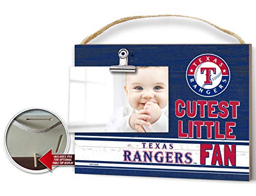 (KH Sports Fan Clip It Colored Baby Logo Photo Frame Texas Rangers)