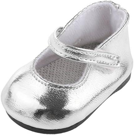 MagiDeal 1 Par Zapatos Color Plata Decoración para Muñecas Niñas ...