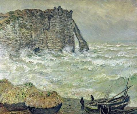 1883 Rough ('Etretat, Rough Sea, 1883 By Claude Monet' Oil Painting, 10x12 Inch / 25x31 Cm ,printed On High Quality Polyster Canvas ,this Cheap But High Quality Art Decorative Art Decorative Prints On Canvas Is Perfectly Suitalbe For Wall Art Gallery Art And Home Gallery Art And Gifts)