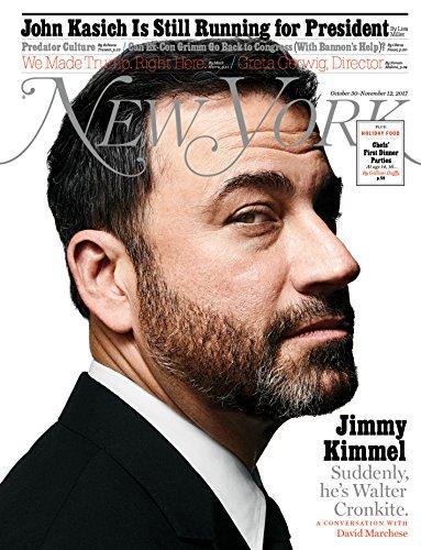New York Magazine (October 30-November 12, 2017) Jimmy Kimmel Cover