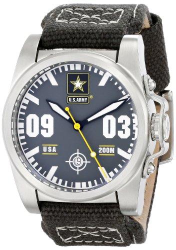 Wrist Armor Men's WA201 C1 Stainless Steel Analog Display Swiss Quartz Watch with Green Canvas Strap