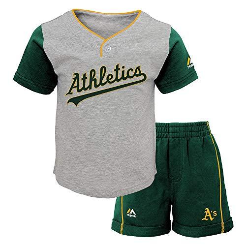 (Outerstuff Oakland Athletics MLB Batting Practice T-Shirt & Shorts Set Infant)
